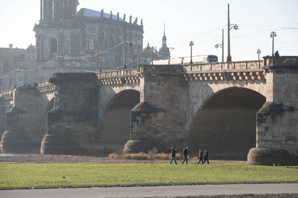 Die Augustusbrücke soll im nächsten Jahr für rund 23 Millionen Euro saniert  werden.
