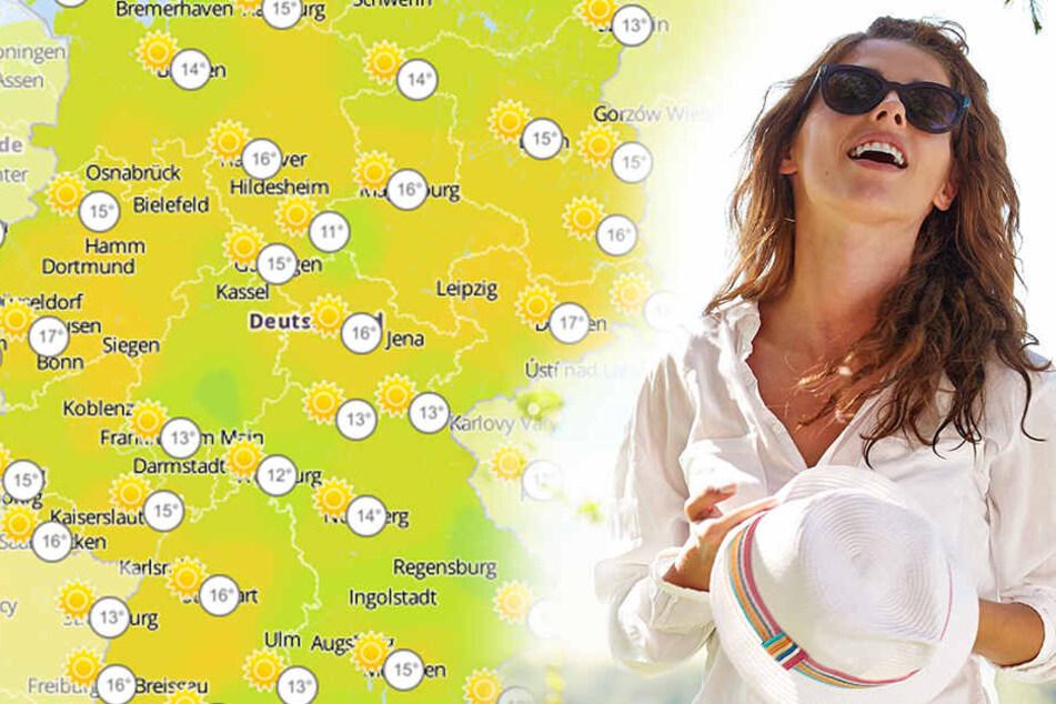 In Deutschland wird es an diesem Wochenende bis zu 18 Grad warm.