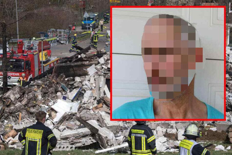 Gasflaschen in den Trümmern gefunden! Jagte dieser Mann sein eigenes Haus in die Luft?
