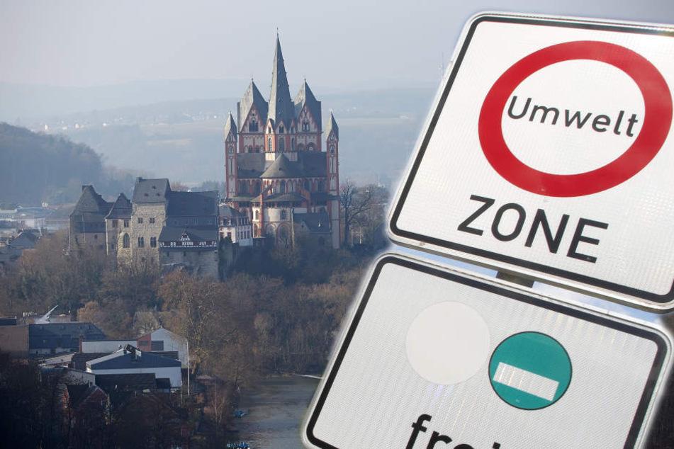 In der City in Limburg dürfen nur noch Autos mit grüner Plakette fahren. (Symbolbild)