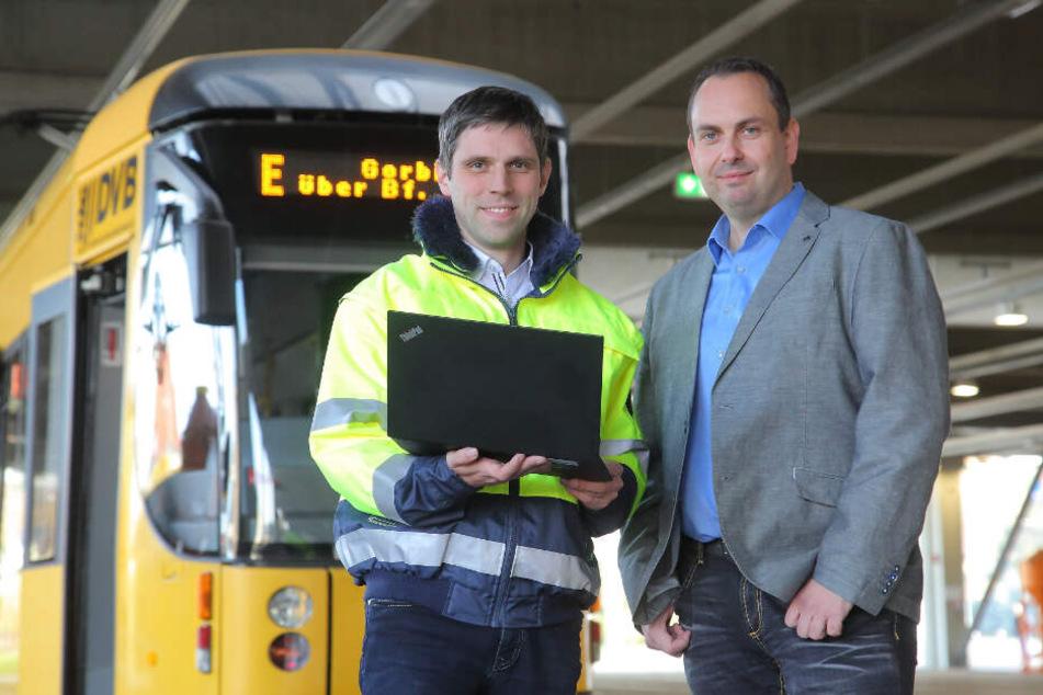 Projektleiter Verkehrstechnik Christian Gassel (37, l.) und Björn Schönherr (41), Sachgebietsleiter Verkehrstechnik.