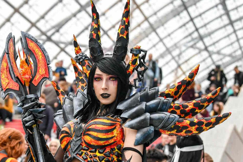 Allein schon die Manga-Comic-Con lockte 104.000 Menschen nach Leipzig.