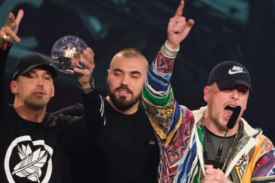 Vom Radiosender 1Live wurden Raf Camora (links) und Bonez MC Ende 2016 als bester Hip-Hop-Act ausgezeichnet.