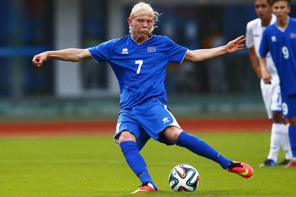 Kolbeinn Birgir Finnsson hat bereits zwei A-Länderspiele für Island absolviert.