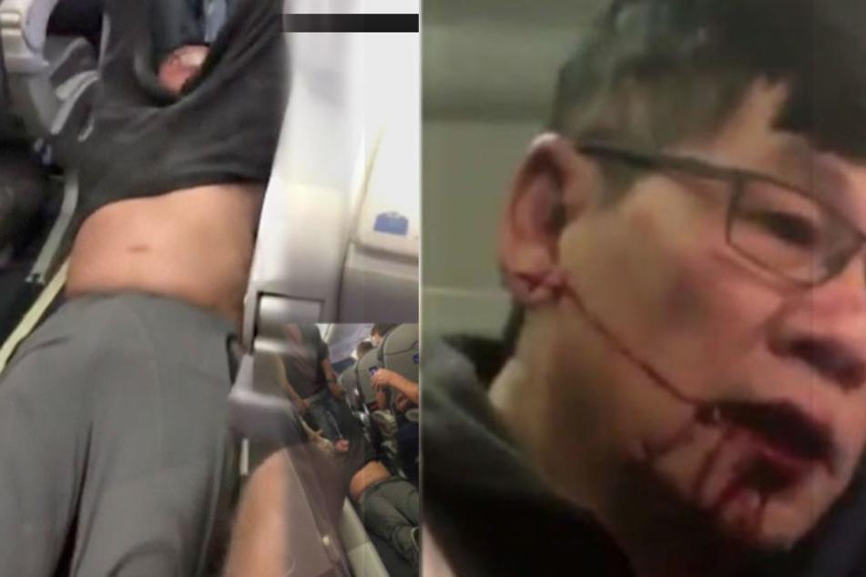 Weil das Flugzeug überbucht war, wurde der Mann gewaltsam aus der Kabine gezerrt.
