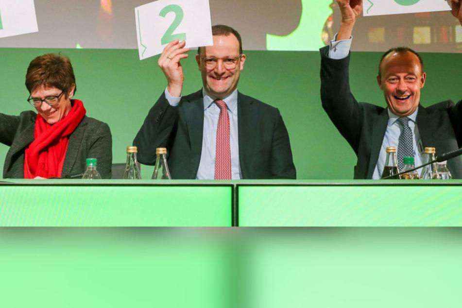 Merkel-Nachfolge: Merz, Spahn und Kramp-Karrenbauer gehen auf Schmusekurs