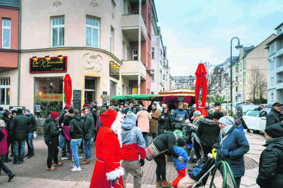 Der 100-Meter-Weihnachtsmarkt rund um die Kaßberger Franz-Mehring-Straße darf in diesem Jahr am Sonntag nicht öffnen.