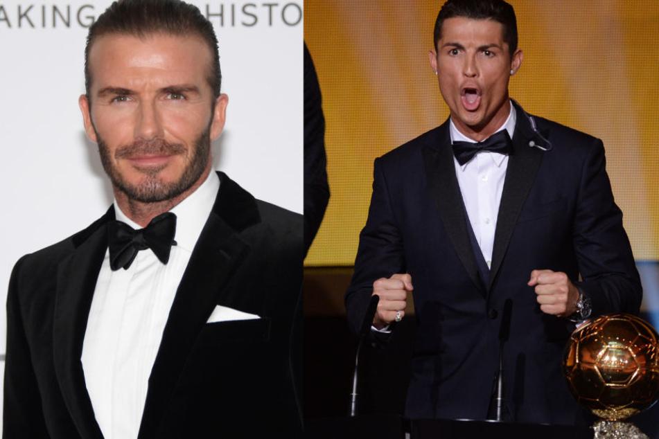 Mit Fußball-Schnuckel David Beckham (l.,43) und Cristiano Ronaldo (33) würde das Youtube-Luder sofort in die Kiste springen.