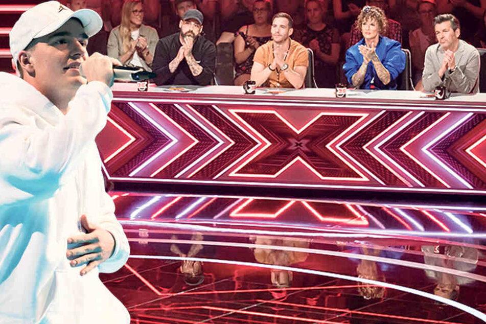 """Robin (20) aus Dresden bei """"X Factor"""" mit eigenem Song im Halbfinale"""