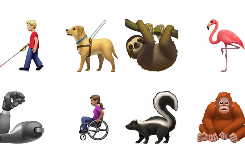 Die neuen Apple-Emojis sind ab Herbst verfügbar.