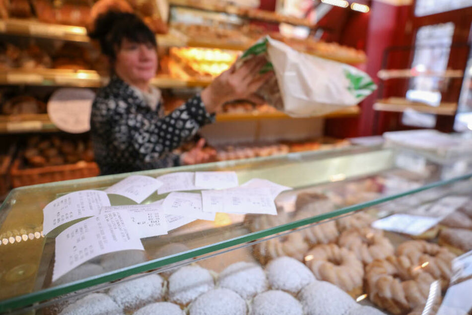 In vielen Bäckereien bleiben die Bons einfach liegen.