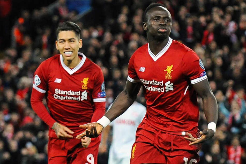 Werden beim Hype um Salah zu oft vergessen: Sadio Mané (r.) und Roberto Firmino (l.).