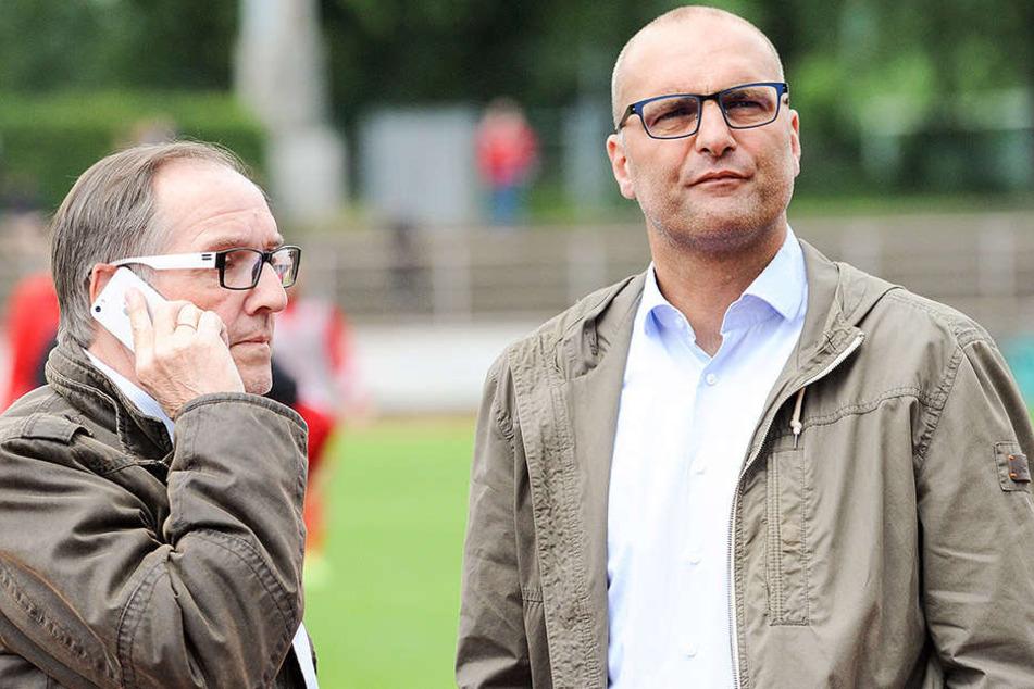 DSC-Präsident Hans-Jürgen Laufer (li.) und Gerrit Meinke pflegen ein freundschaftliches Verhältnis.