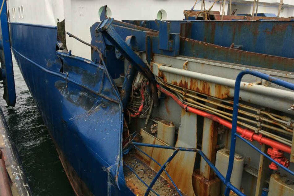 Vor der Insel Rügen kam es am Dienstagmorgen zu einem Schiffsunfall.