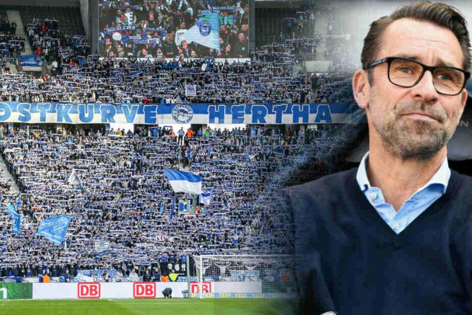 Hertha-Manager Michael Preetz glaubt an eine Heimspielatmosphäre gegen Dynamo Dresden.