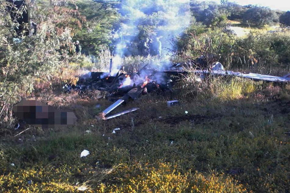 Beim Abschuss eines Polizeihubschraubers starben vier Menschen, darunter der Pilot.