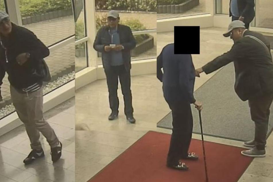Die drei Tatverdächtigen sind auf mehreren Bildern festgehalten worden.