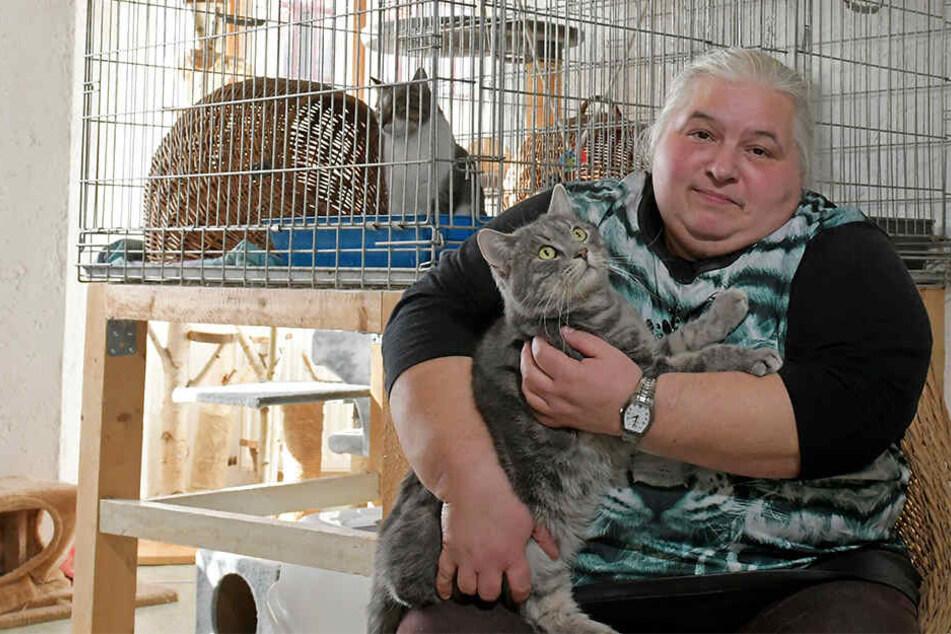 Veronika Leutner (53) ist eine der wenigen ehrenamtlichen Mitarbeiter im Tierheim.