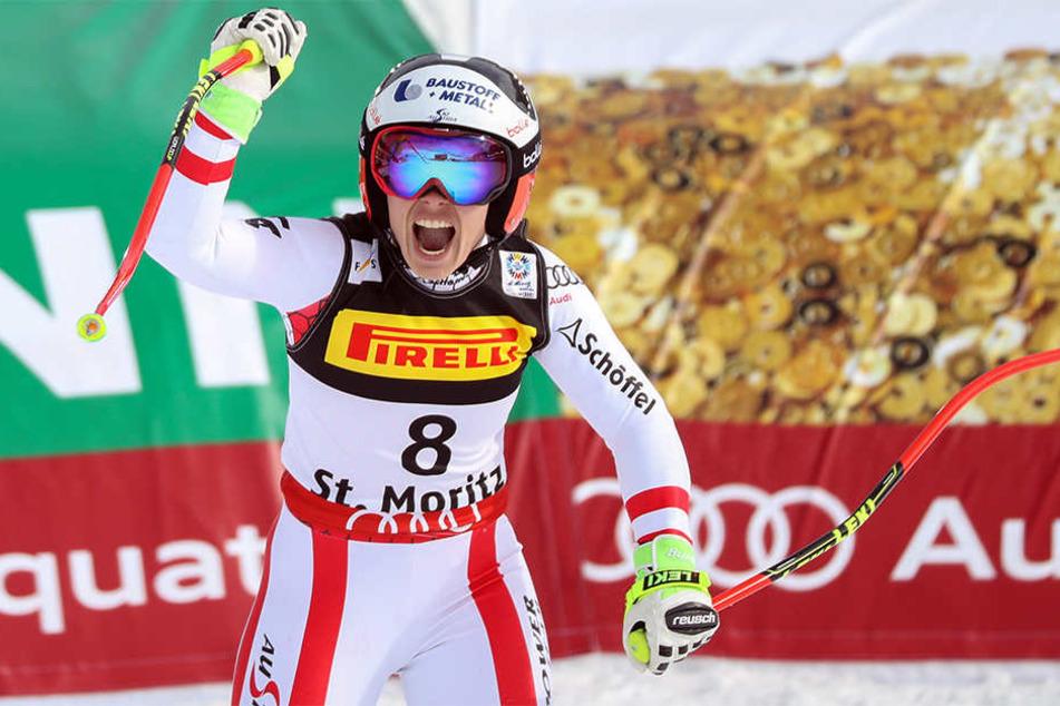 Überraschungs-Weltmeisterin Nicole Schmidhofer (27). Die Österreicherin hatte zuvor noch nie ein Weltcup-Rennen gewonnen.