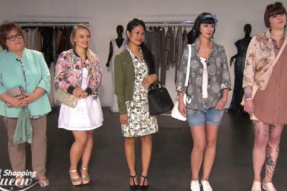 Die Leipziger Kandidatinnen (v.l.n.r.): Friedl, Irina, Noria, Heike und Jennifer. Nur eine konnte Shopping-Queen werden.