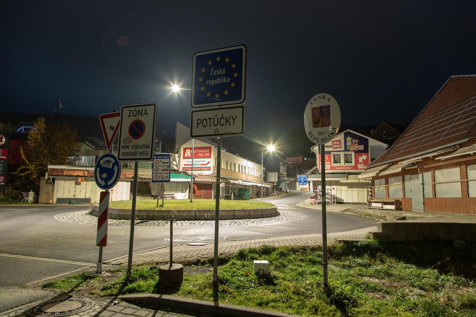 Wie ausgestorben war der tschechische Ort Breitenbach/Potůčky an der Grenze zu Johanngeorgenstadt.