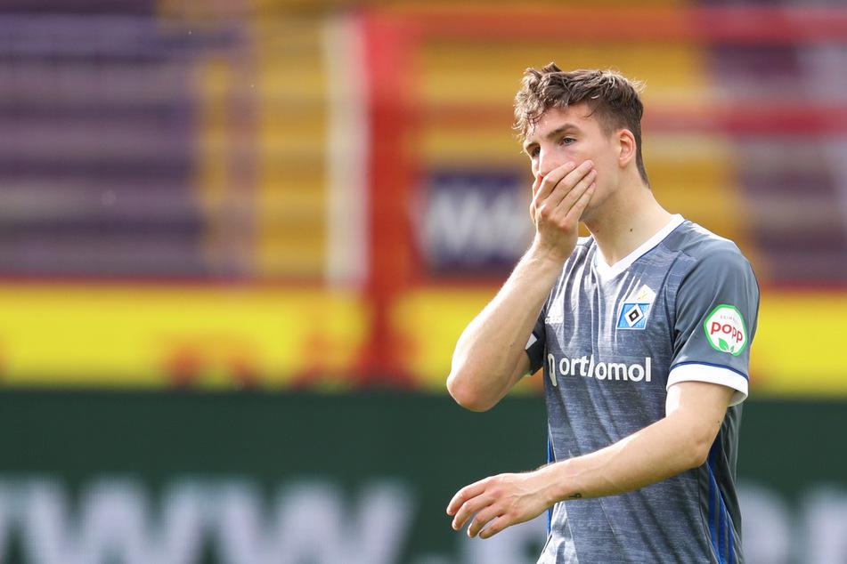 Frust bei HSV-Youngster Robin Meißner (21): Der Stürmer hat sich am Innenband verletzt und fällt wochenlang aus. (Archivfoto)