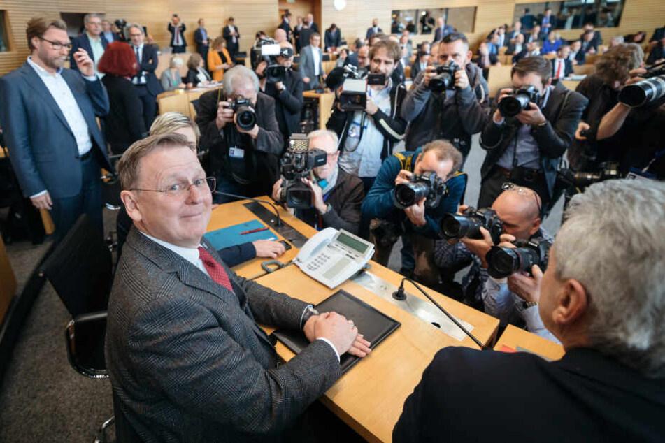 Das mediale Interesse an der Wahl in Erfurt ist groß.