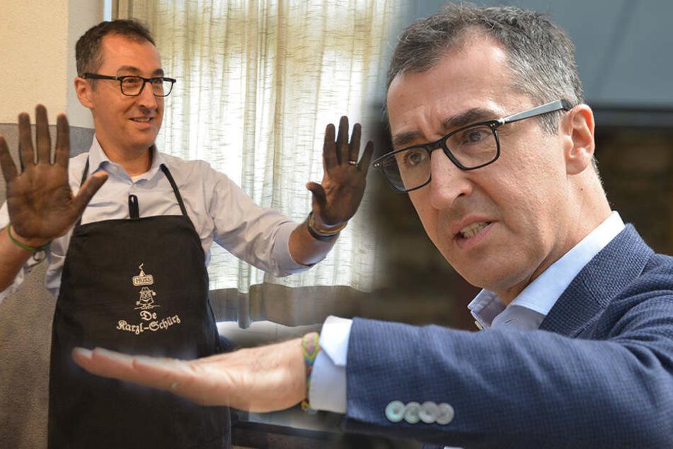 Besuch im Erzgebirge: Hier macht sich Cem Özdemir die Hände schmutzig