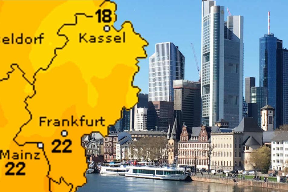 Zu Gründonnerstag (Grafik) kehrt der Frühling zurück nach Frankfurt und ganz Hessen.
