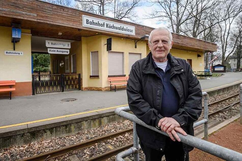 Parkbahn-Chef Matthias Dietel (63) hofft, dass der Bahnhof ab Herbst gebaut werden kann.
