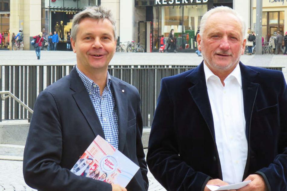 Dr. Walter Ebert (links) und Veranstalter Arnold Bergmann stellten am Donnerstag das Konzept vor.