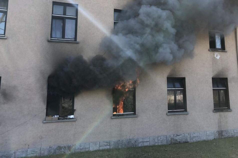 Feuer in Würzburger Unterkunft für Asylbewerber
