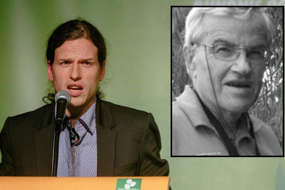 Der sächsische Grünen-Chef, Jürgen Kasek (37, l.) trauert um seinen Vater, den Umweltaktivisten Leonhard Kasek (†67).