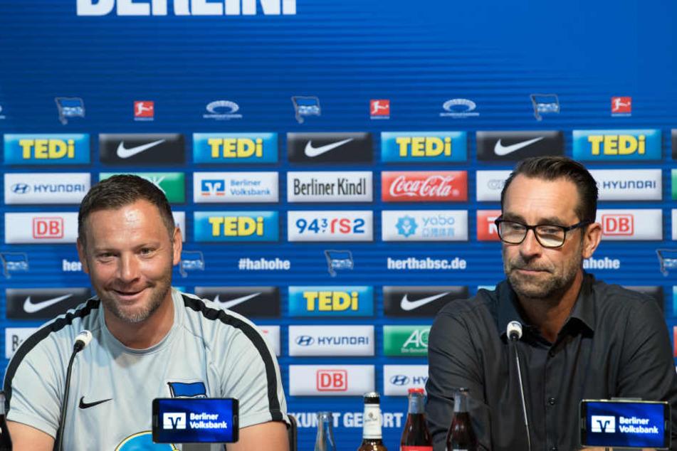 Trainer Pal Dardai und Manager Michael Preetz fordern von ihrer Mannschaft eine deutliche Leistungssteigerung.