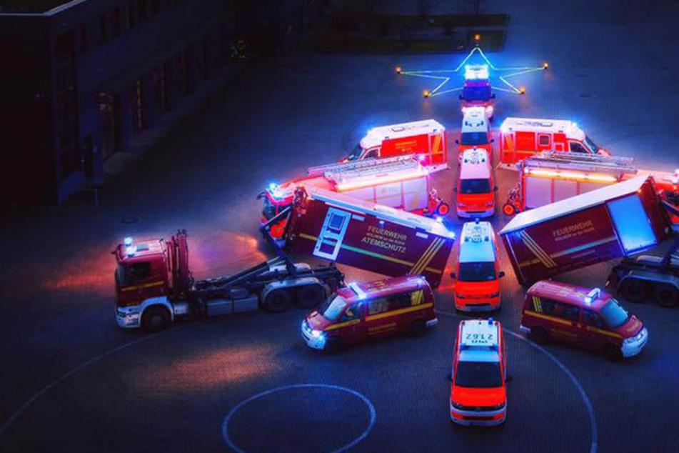 So abgefahren feiert diese Feuerwehr Weihnachten