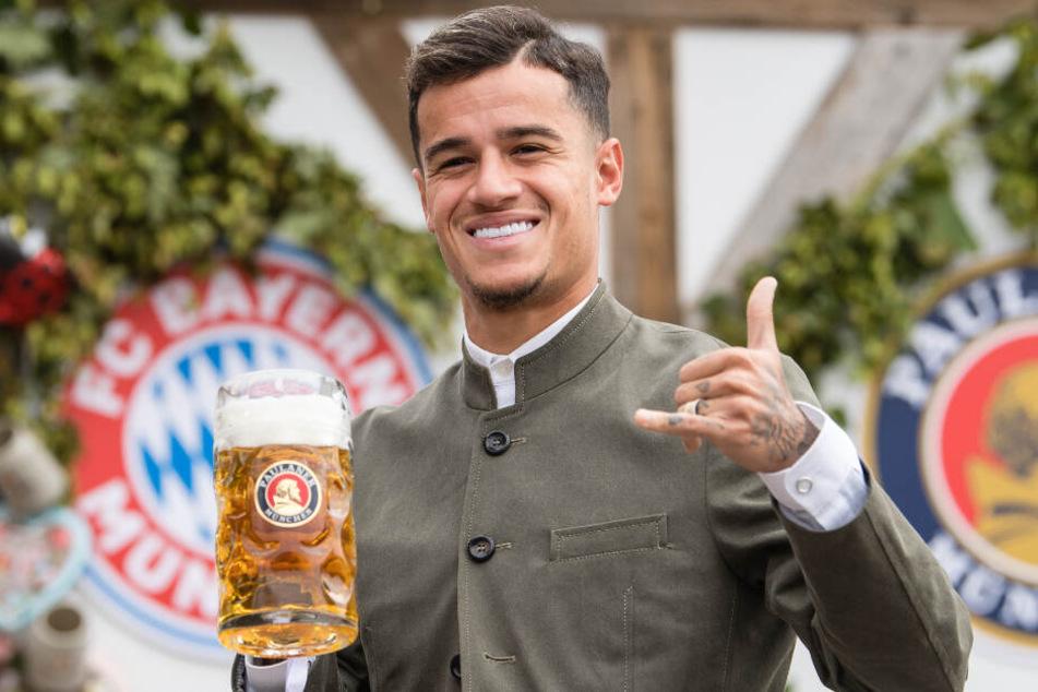 Philippe Coutinho fühlt sich in München augenscheinlich äußerst wohl.