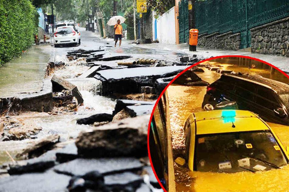 Tote, Verwüstung, Chaos: Heftige Unwetter fluten Millionen-Metropole