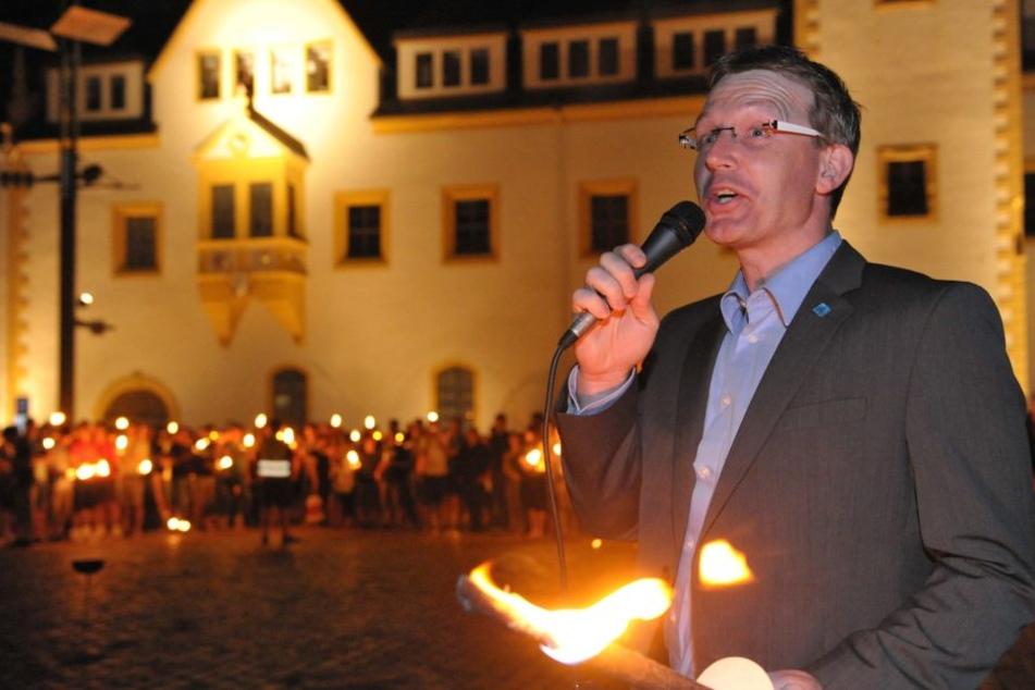 Freibergs OB Sven Krüger (42, SPD) geht an Heiligabend auf große Weihnachtstour.
