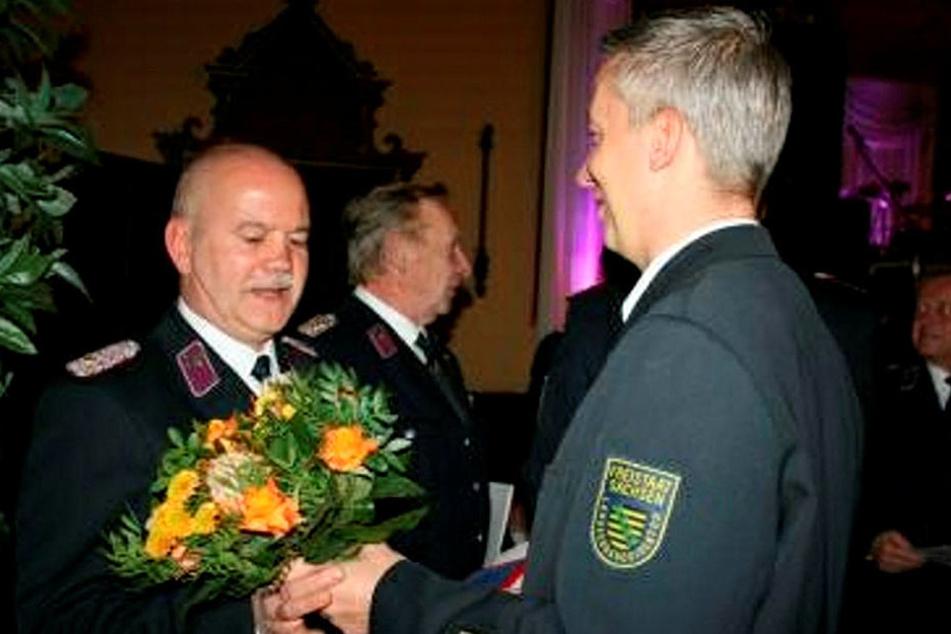 Jens Großer (44, r.) war schon mal Landesbranddirektor, bewirbt sich ebenfalls.