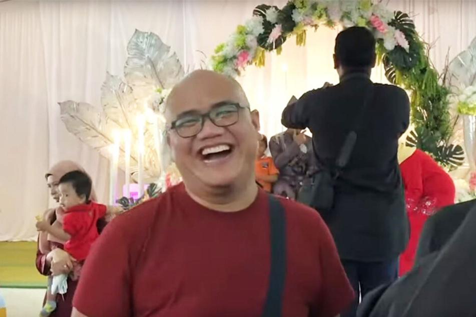 Amir Zulfadhli Zulkifly (30) konnte nicht aufhören zu lachen.