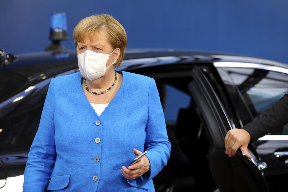 17. Juli 2020: Bundeskanzlerin Angela Merkel trifft bei dem EU-Gipfel im Gebäude des Europäischen Rates ein.