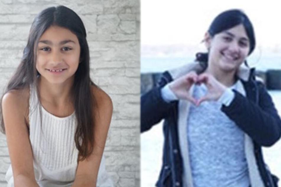 Mit diesen Bildern von Larissa (links) und Melissa sucht die Polizei Kiel nach den beiden Mädchen.