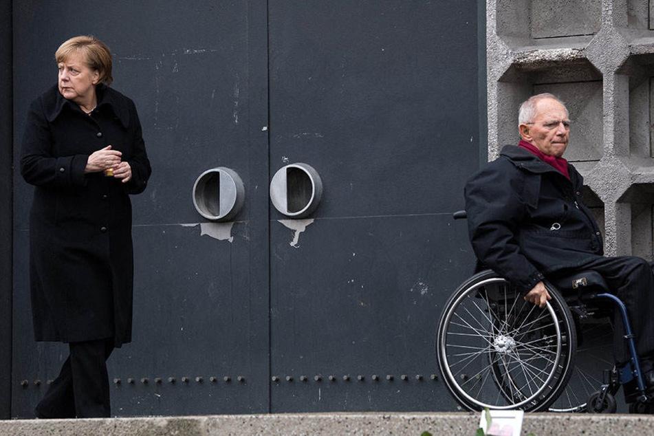 Angela Merkel und Wolfgang Schäuble am Breitscheidplatz.