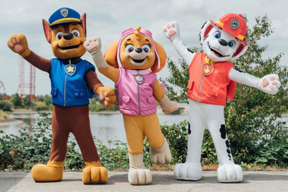 """Die Stars der beliebten Kinder-Serie """"Paw Patrol"""" sind nun Teil der Show im Nickeodeon-Areal."""