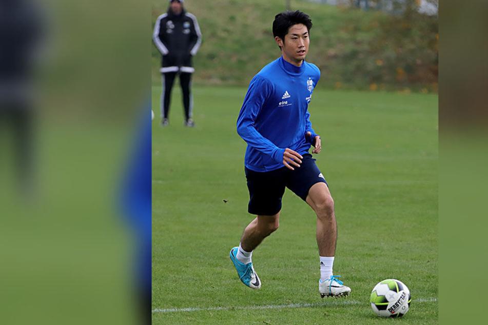 Mittelfeldspieler Naoyuki Yamazaki mischt seit Dienstagvormittag bei den Himmelblauen mit.