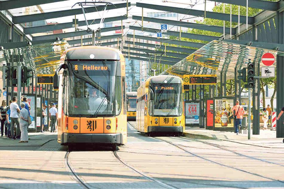 Aktuell besitzten die DVB 166 Straßenbahnen.
