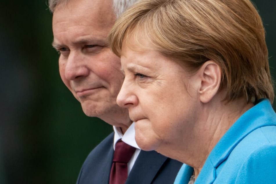 Angela Merkel empfängt Finnlands neuen Ministerpräsidenten Antti Rinne.
