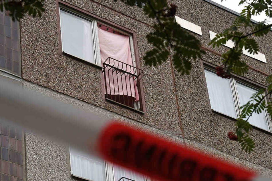 In dieser Wohnung in Leipzig-Paunsdorf hielten drei Syrer ihren Landsmann fest und alarmierten die Polizei.