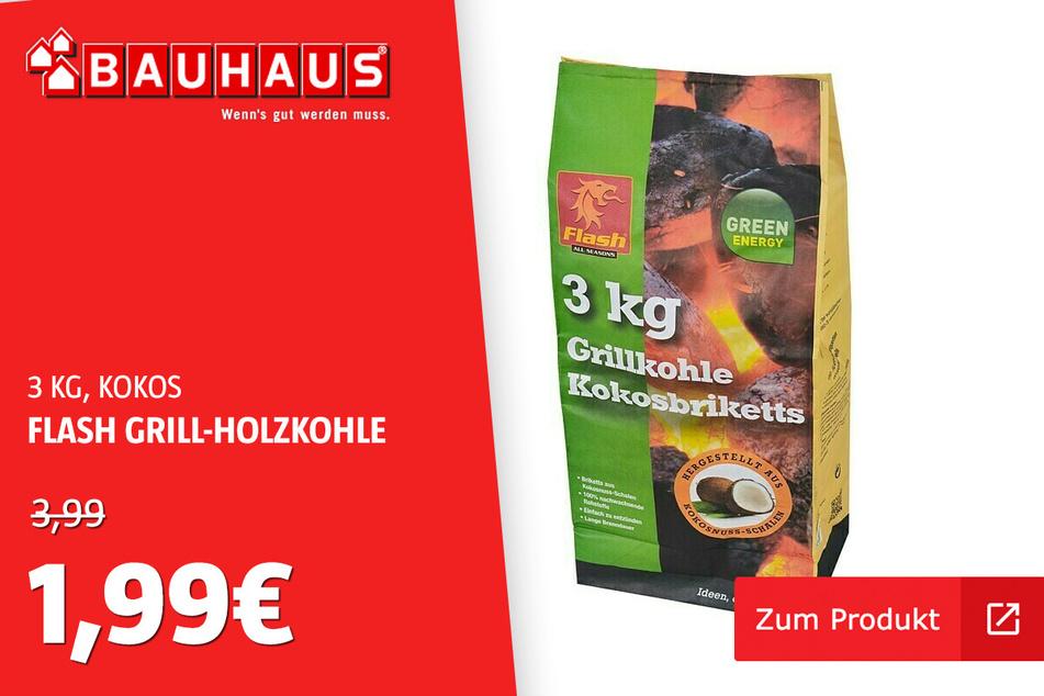 Grillkohle Kokosbrikett für 1,99 statt 3,99 Euro