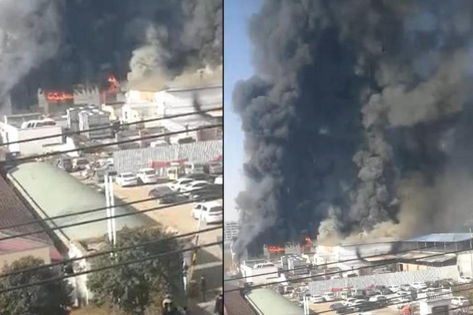 Twitterbilder zeigen den Ausmaß des verheerenden Feuers.